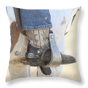 Boot And Spur Throw Pillow