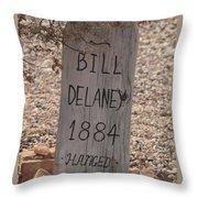 Boot Hill, Tombstone, Az Throw Pillow