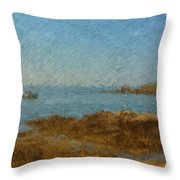 Boothbay Calm Day Ocean View Throw Pillow