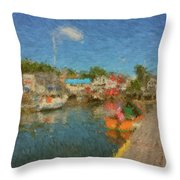 Boothbay Harbor At 5 Throw Pillow