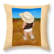 Boots And Skivvies Throw Pillow
