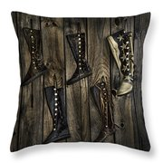 Boots Anyone? Throw Pillow