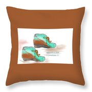 We Walk By Faith Throw Pillow