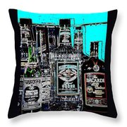 Boozy Line Up With Aqua  Throw Pillow