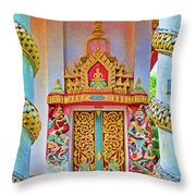 Bophut Temple In Thailand Throw Pillow