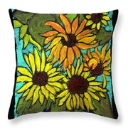 Boquet Of Sunshine Throw Pillow