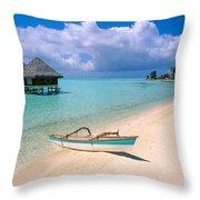Bora Bora Moana Throw Pillow