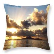 Bora Bora Sunset  Throw Pillow