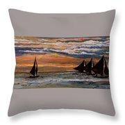 Boracay Sunset Throw Pillow