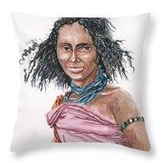Boran Woman Throw Pillow