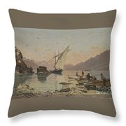 Bord Du Lac A Rivaz Throw Pillow