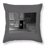 Bordeaux Church Door Throw Pillow