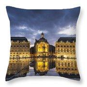 Bordeaux Place De La Bourse  Throw Pillow