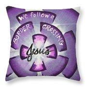 Border-crossing Jesus Throw Pillow