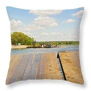 Border On Zambezi River Throw Pillow