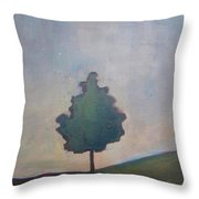 Bordering Tree Throw Pillow