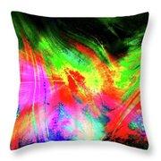 Borealis Explosion Rupture Throw Pillow