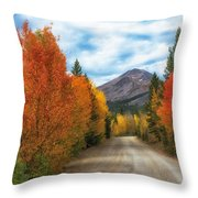 Boreas Mountain Throw Pillow by Bitter Buffalo Photography