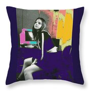 Bored... Throw Pillow