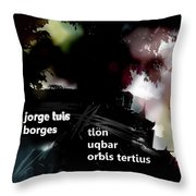 Borges Tlon Poster  Throw Pillow