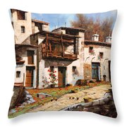 Borgo Di Montagna Throw Pillow