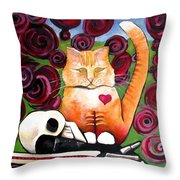 Boris And Me Throw Pillow by Delight Worthyn