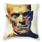 Boris Karloff, The Mummy Throw Pillow
