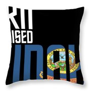 Born And Raised In Idaho Birthday Gift Nice Design Throw Pillow