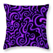 Born In Purple Throw Pillow