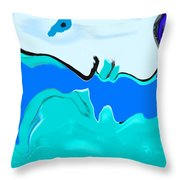 Born Of The Ocean Throw Pillow
