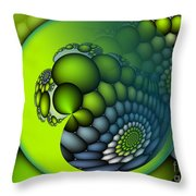 Born To Be Green Throw Pillow