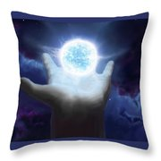 Born To Create Throw Pillow