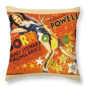 Born To Dance 1936 Retro Movie Poster Throw Pillow