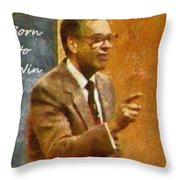 Born To Win Throw Pillow