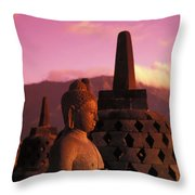Borobudor Temple Throw Pillow