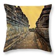 Borobudur Temple Throw Pillow