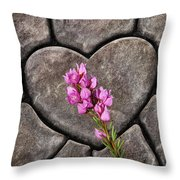 Boronia Love Throw Pillow