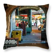 Borough Market Throw Pillow