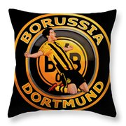 Borussia Dortmund Painting Throw Pillow