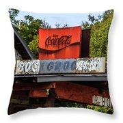 Bo's Grocery Throw Pillow by Doug Camara