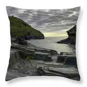 Boscastle Headland Throw Pillow
