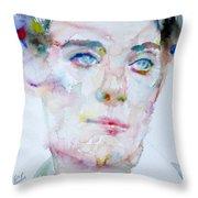 Bosie - Lord Alfred Douglas - Watercolor Portrait Throw Pillow