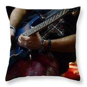 Boss Guitar Player Throw Pillow by Bob Christopher