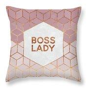Boss Lady Throw Pillow by Elisabeth Fredriksson