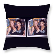 Bossom Buddies - Gently Cross Your Eyes And Focus On The Middle Image Throw Pillow