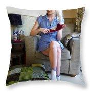 Bossy Schoolgirl Throw Pillow