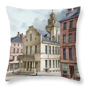 Boston, 19th Century Throw Pillow