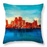 Boston Abstract Throw Pillow
