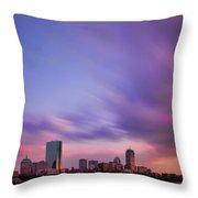 Boston Afterglow Throw Pillow by Rick Berk