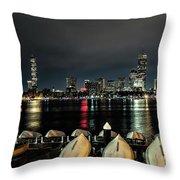 Boston Along The Charles River Throw Pillow